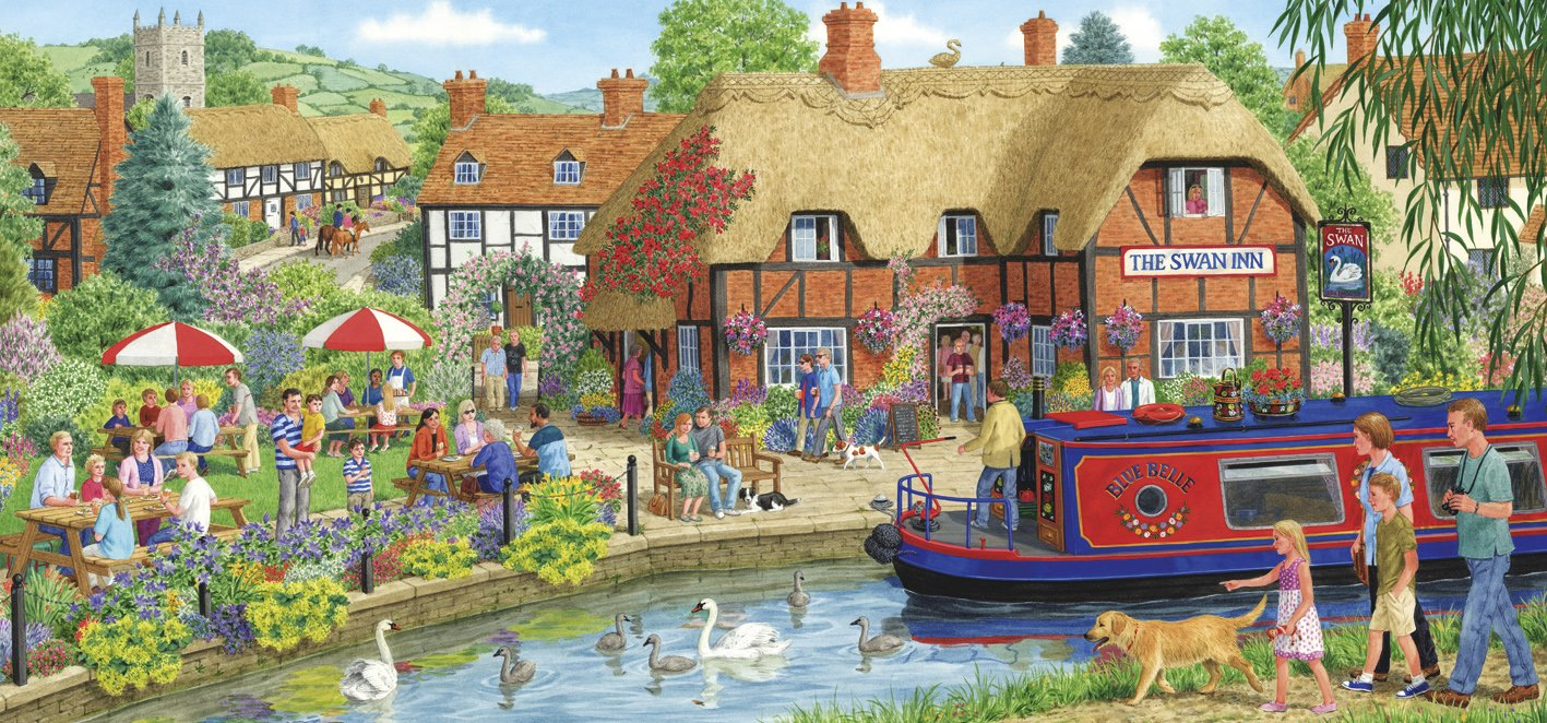 gibsons lunch at the swan jigsaw puzzle 636 pieces amazon