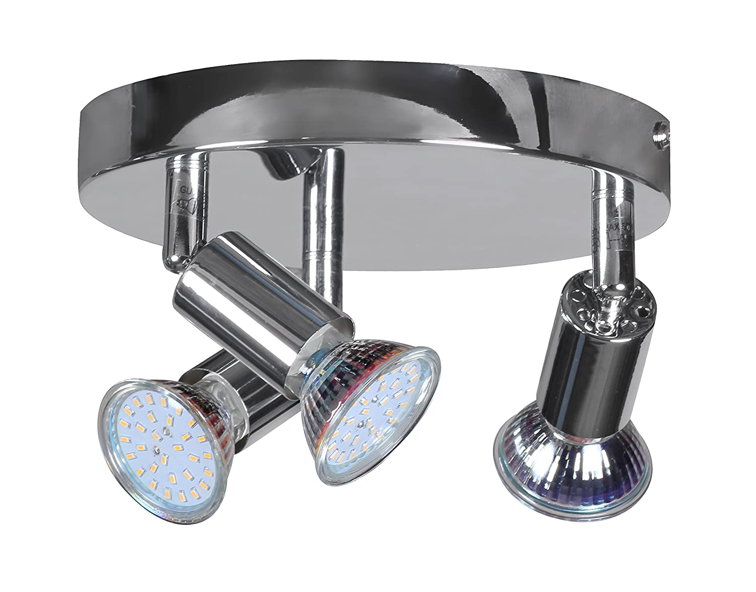 Wohnling 3er led strahler deckenlampe rondell spotsystem led wohnling 3er led strahler deckenlampe rondell spotsystem led wandlampe lampe spot eek a amazon beleuchtung parisarafo Image collections
