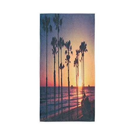 "30/""x60/""  Sunset /& Palms Beach Towel"