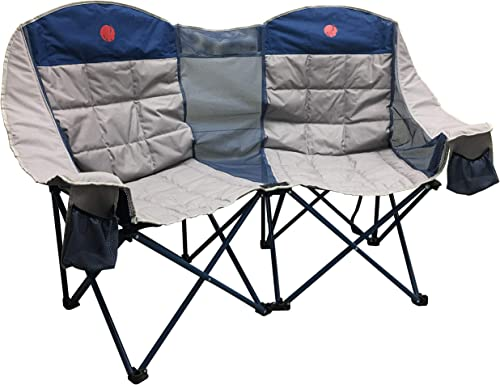 OmniCore Designs MoonPhase Home-Away LoveSeat Heavy Duty Oversized Folding Double Camp Chair Collection Single, Double, Triple Double Loveseat