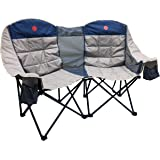 OmniCore Designs MoonPhase Home-Away LoveSeat Heavy Duty Oversized Folding Double Camp Chair Collection (Single, Double…