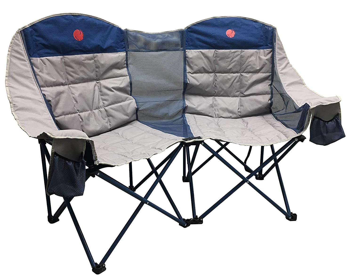 OmniCore Designs MoonPhase Home-Away LoveSeat Heavy Duty Oversized Folding Double Camp Chair Collection (Single, Double, Triple) Triple) (Double Loveseat)