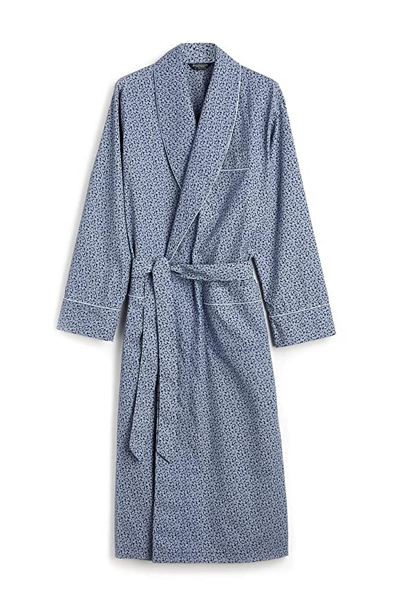 BONSOIR Printed Cotton Gown (L, Blue Paisley): Amazon.co.uk: Clothing