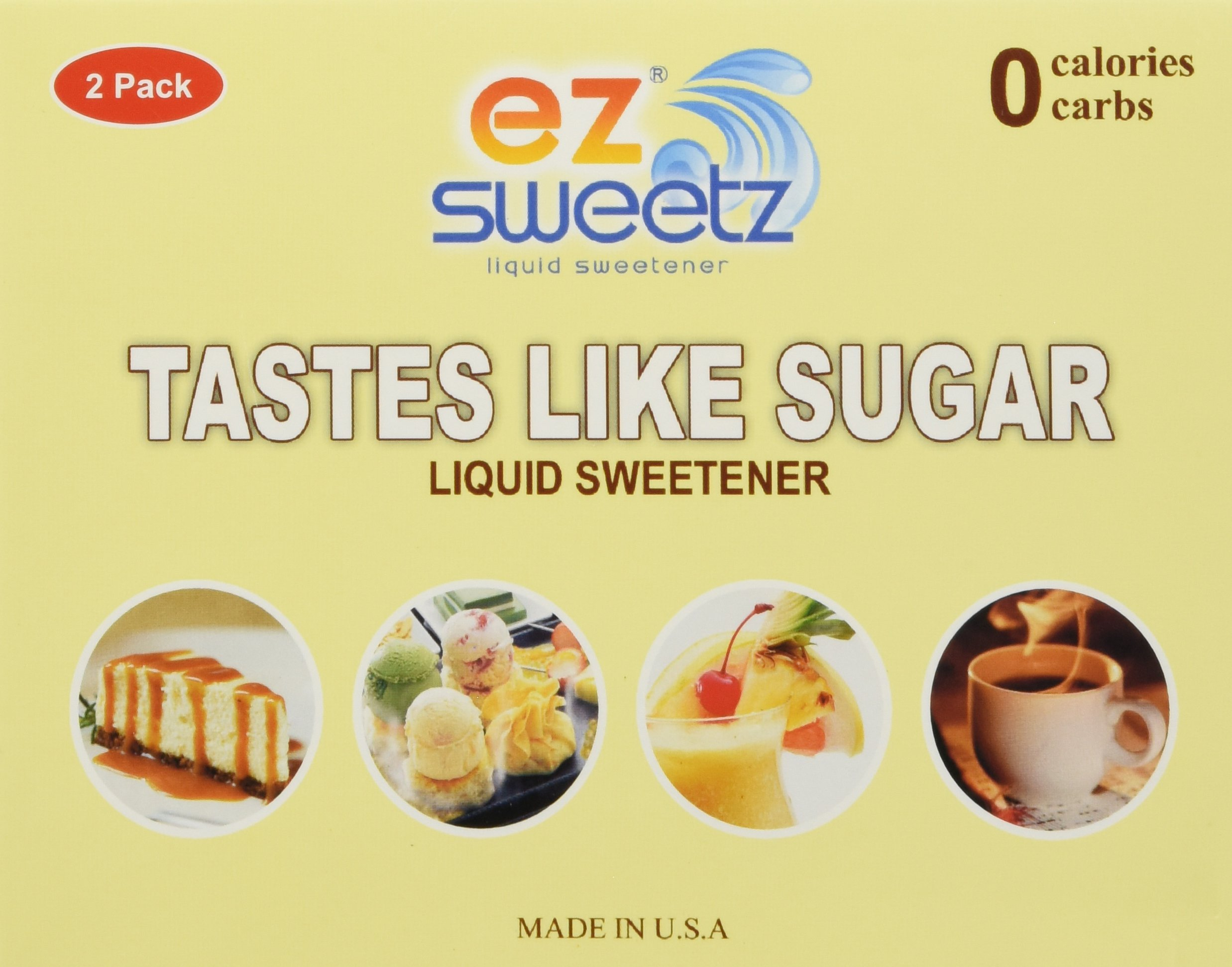 EZ-Sweetz (2 Pack 1.05oz - Liquid Sweetener 400 Servings/Bottle) by EZ-Sweetz