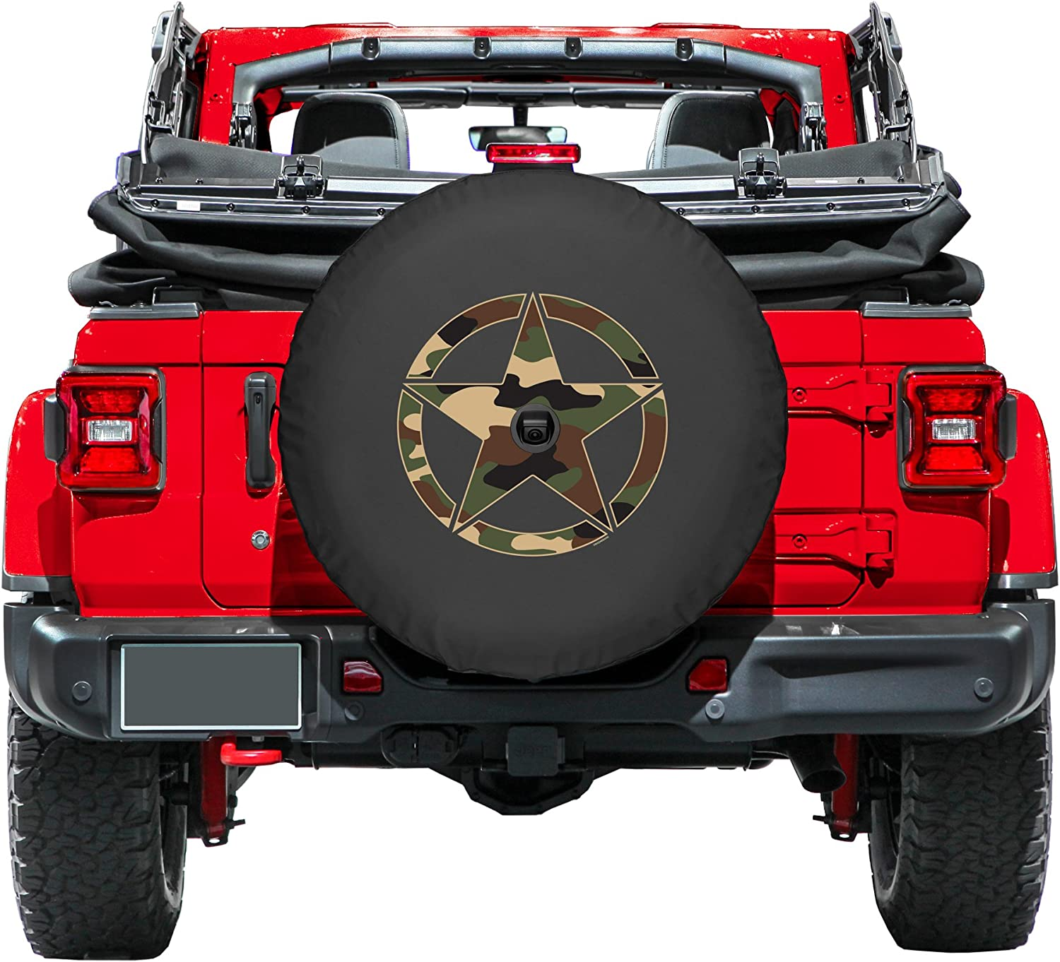 with Back-up Camera - Green Camo Star 2018-2020 32 Soft JL Tire Cover for Jeep Wrangler JL Made in The USA Boomerang - Sport /& Sahara