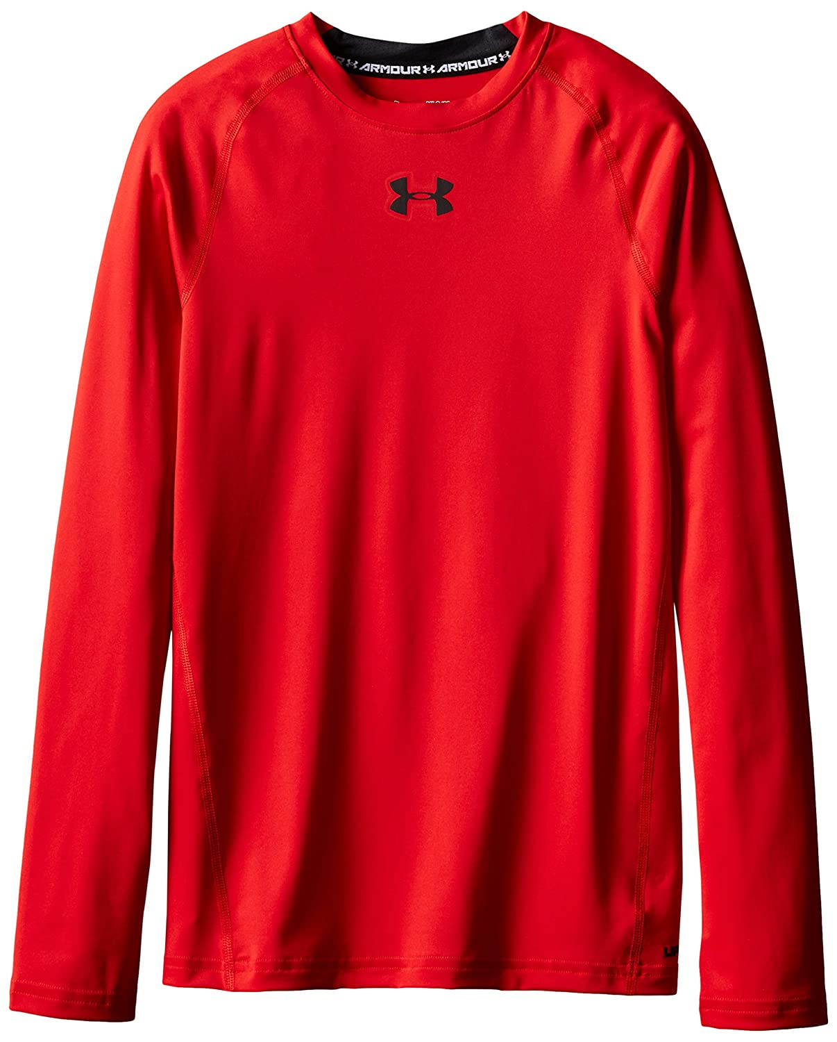 Under Armour, Armour Ls T, Maglia A Maniche Lunghe, Bambino, Rosso, XS 1253816 1253816_601-YXS