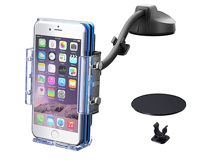 online store ea10f bdc85 SEIKOSANGYO CO., LTD. EC-192 Smartphone Holder For Car Compatible with  Notebook-style Wallet Case Works with Large Smartphones Freely Bending  Flexible ...