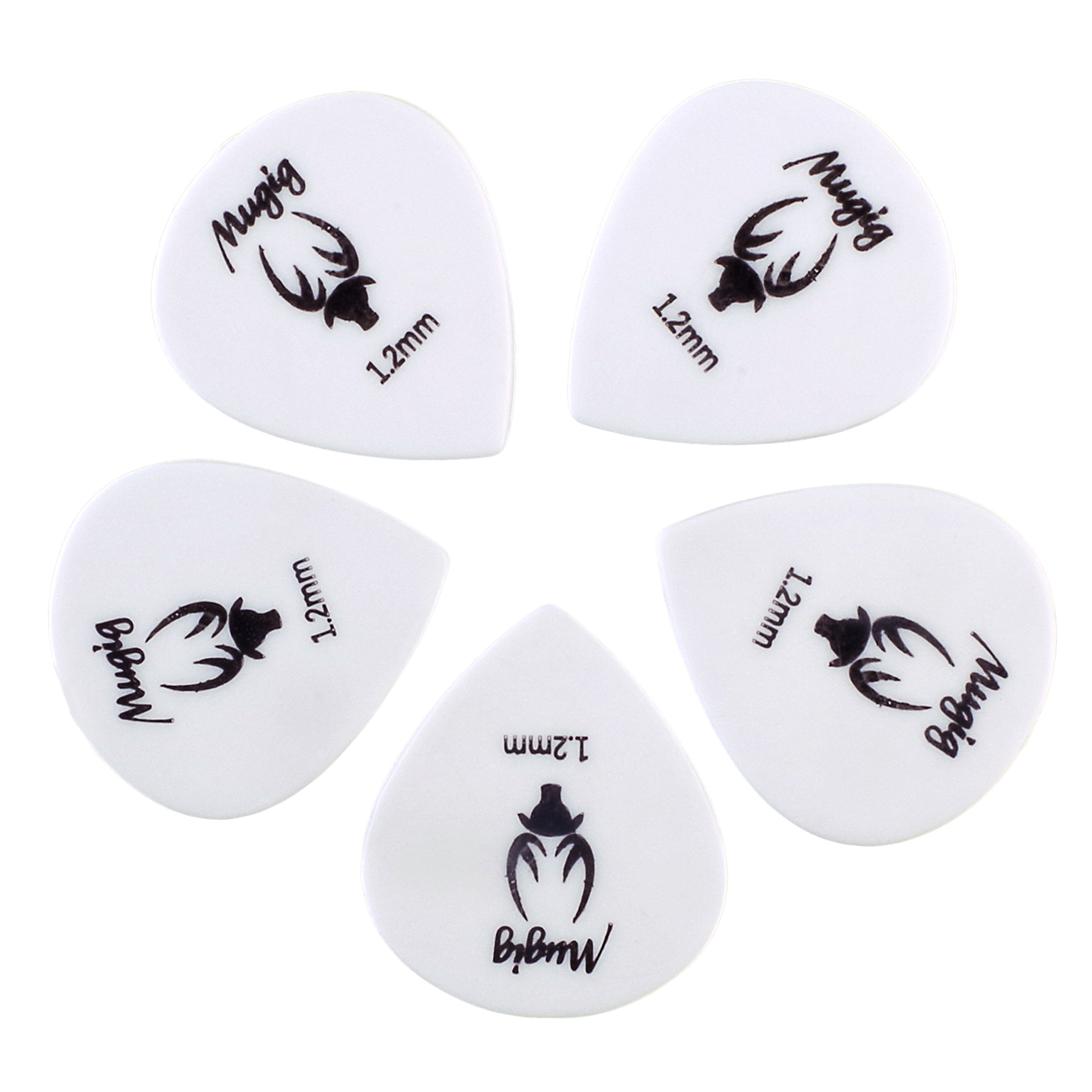 Mugig Guitar Picks, Guitar Accessories, Delrin Guitar Plectrums ,A Pack of 50 (1.2MM)