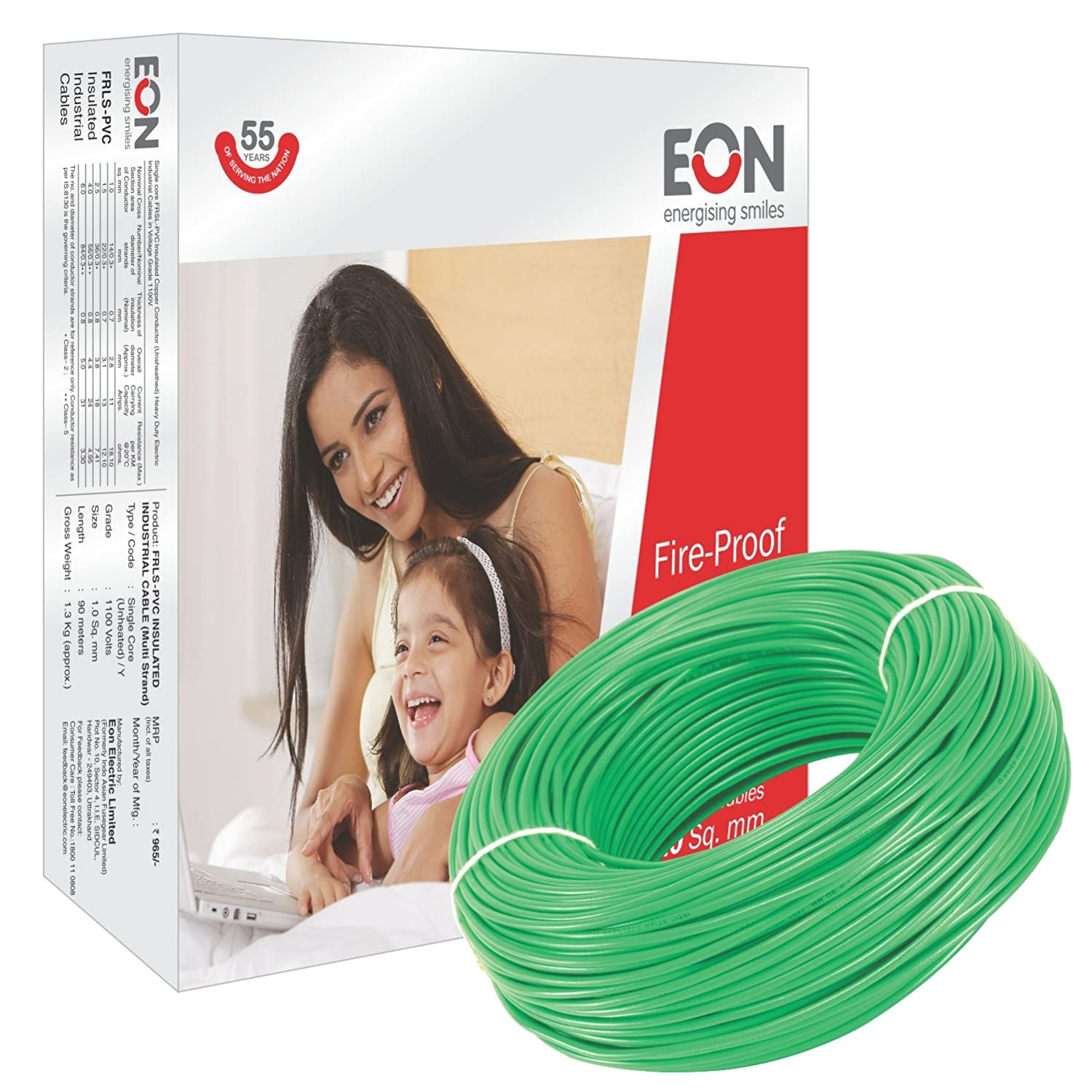 Eon Fire Proof Fr Pvc Insulated 90 Meter Electric Wire House Wiring Code Canada Electronics