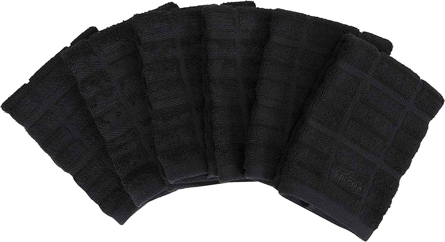 All-Clad Textiles 89314 Cotton Dish Cloth, 6-Pack, Black