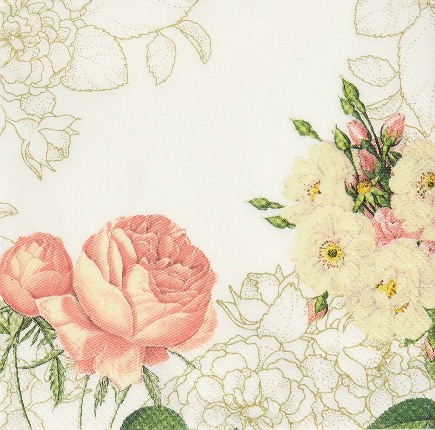Talking Tables Blossom & Brogues Floral Paper Napkins for a Wedding or Tea Party, Multicolor (40 Pack) by Talking Tables