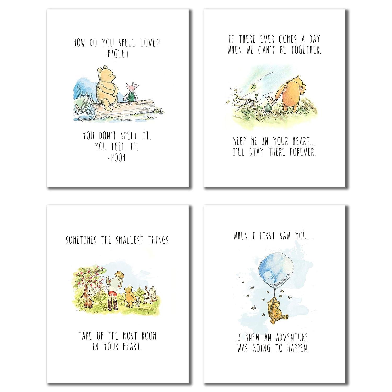 356e13c9c452 Amazon.com  Winnie the Pooh Classic Art Prints - Set of Four (8x10 - Set of  Four Prints)  Posters   Prints