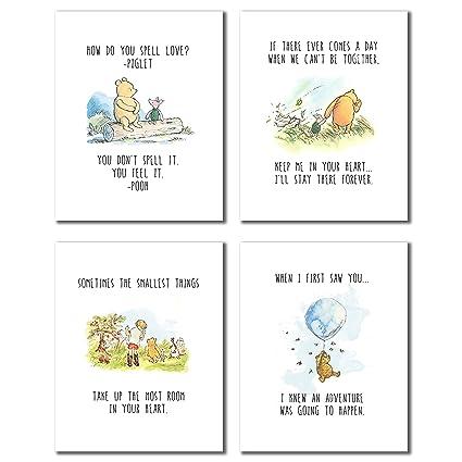 53fb0e5398 Amazon.com  Winnie The Pooh Classic Prints - Set of Four 8x10 Wall ...