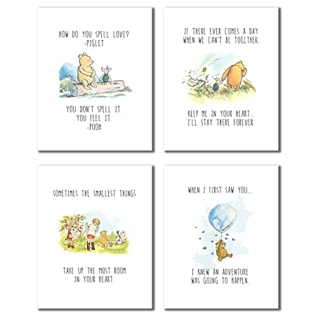 Amazon.com: Winnie the Pooh Classic Art Prints - Set of Four (8x10 - Set of Four Prints): Posters & Prints