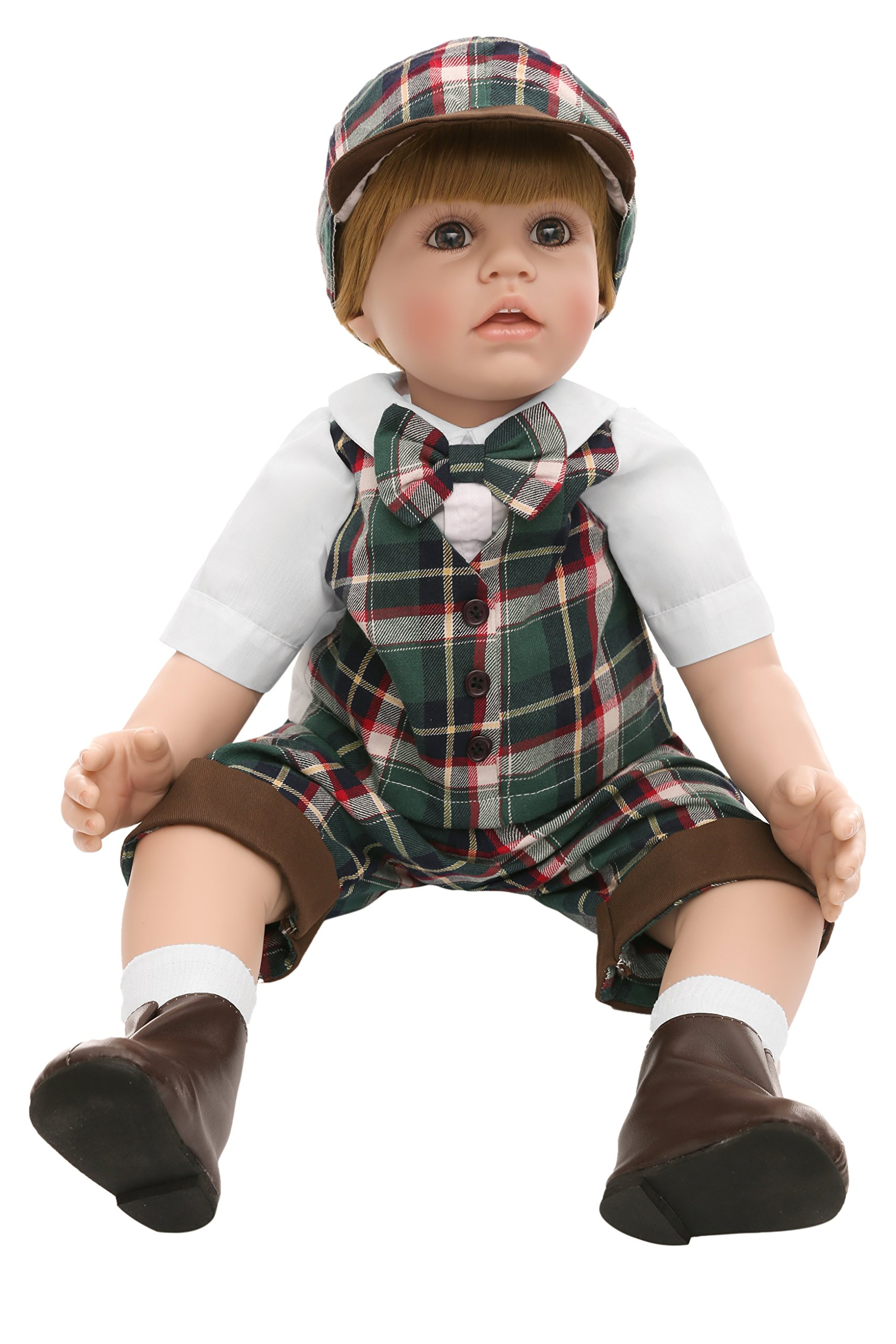 Ladora 23'' Soft Body Lifelike Adorable Doll with Moveable Arms Les for 6+ Children Dolly Toy AMC17006