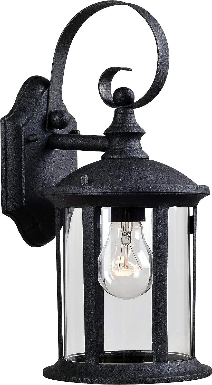 Kenroy Home 93278BL Leo Lanterns, Black Finish