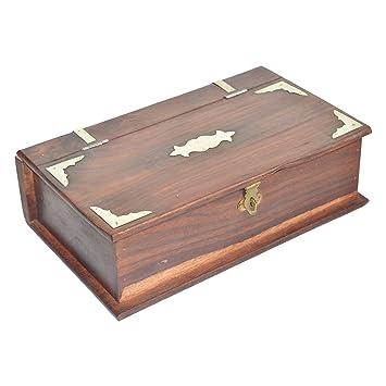 Amazon.com: Shrinath artesanía caja de libro de madera ...