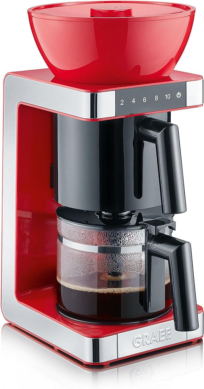 Graef FK 703 Cafetera, 1200 W, De plástico, Acero Inoxidable, Rojo: Amazon.es: Hogar
