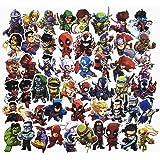 ジャション マーベル スーパーヒーロー コミック 漫画 アニメ ステッカー シール ステッカーセット 防水 ステッカー ブランド  お気に入りのスーツケース、ギター、車、バイク、自転車、ヘルメット、パソコン、携帯、ノート、 タブレット