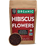 Organic Hibiscus Flowers | Loose Tea (100+ Cups) | Cut & Sifted | 8oz/226g Resealable Kraft Bag | 100% Raw From Egypt | by FG