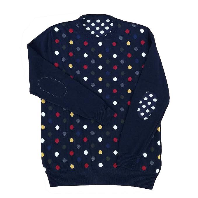 nuovo stile 65725 c038e Maglione Fantasia Pois Misto Cachemire: Amazon.it: Abbigliamento