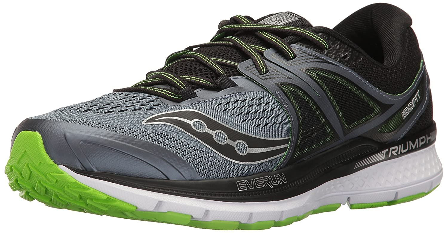 Saucony Men's Triumph ISO 3 Running Shoe B01N6JHAK4 9 D(M) US|Grey Black