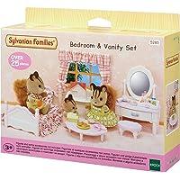 Sylvanian Families 5285 Bedroom and Vanity Set, Beige