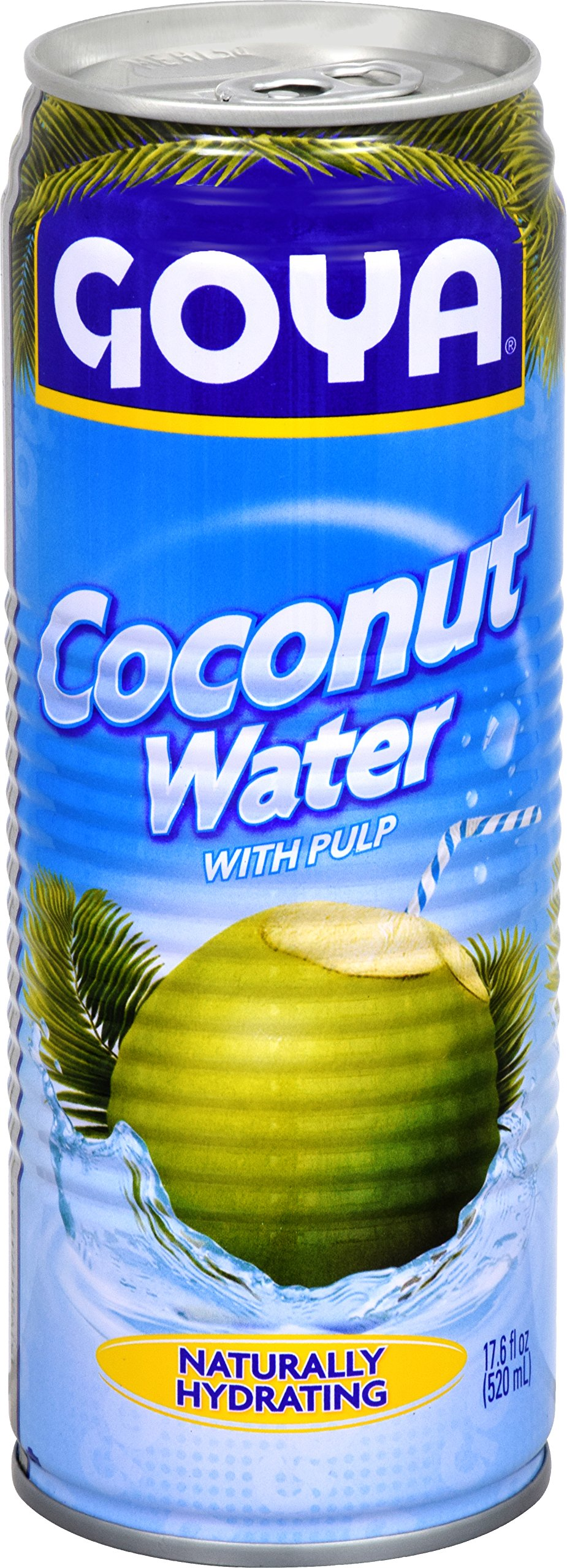Goya Foods Coconut Water, 17.6-Ounce (Pack of 24)