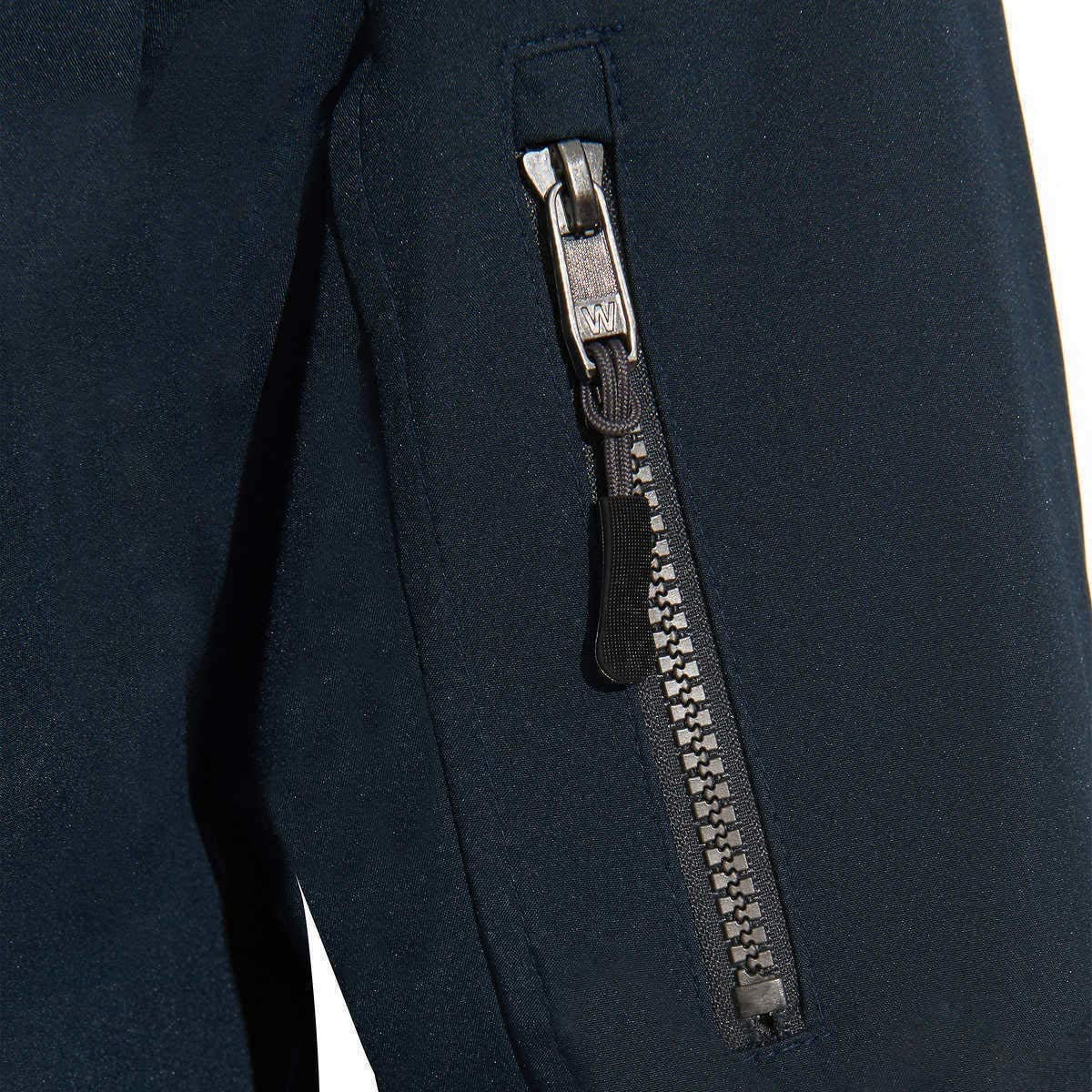 Weatherproof Mens Ultra Tech Mens Jacket Fleece Bib Removable Hood