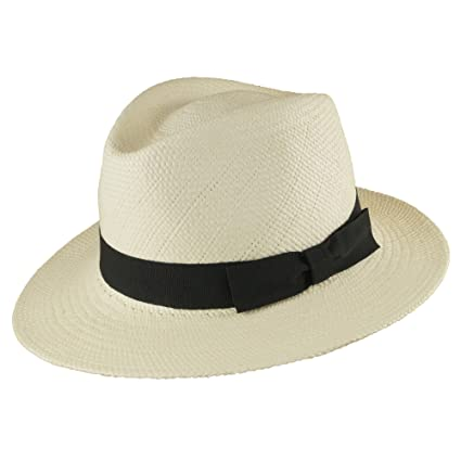 Wegener - Cappello Panama - Donna bianco 57  Amazon.it  Abbigliamento fa69e29f79ac