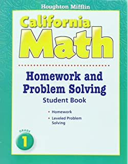 Houghton mifflin california math homework and problem solving book houghton mifflin mathmatics california homework and problem solving book consumable level 1 fandeluxe Image collections