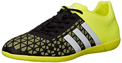 7720790cc adidas Performance Men's Ace 15.3 Indoor Soccer Shoe, Core  Black/White/Solar Yellow