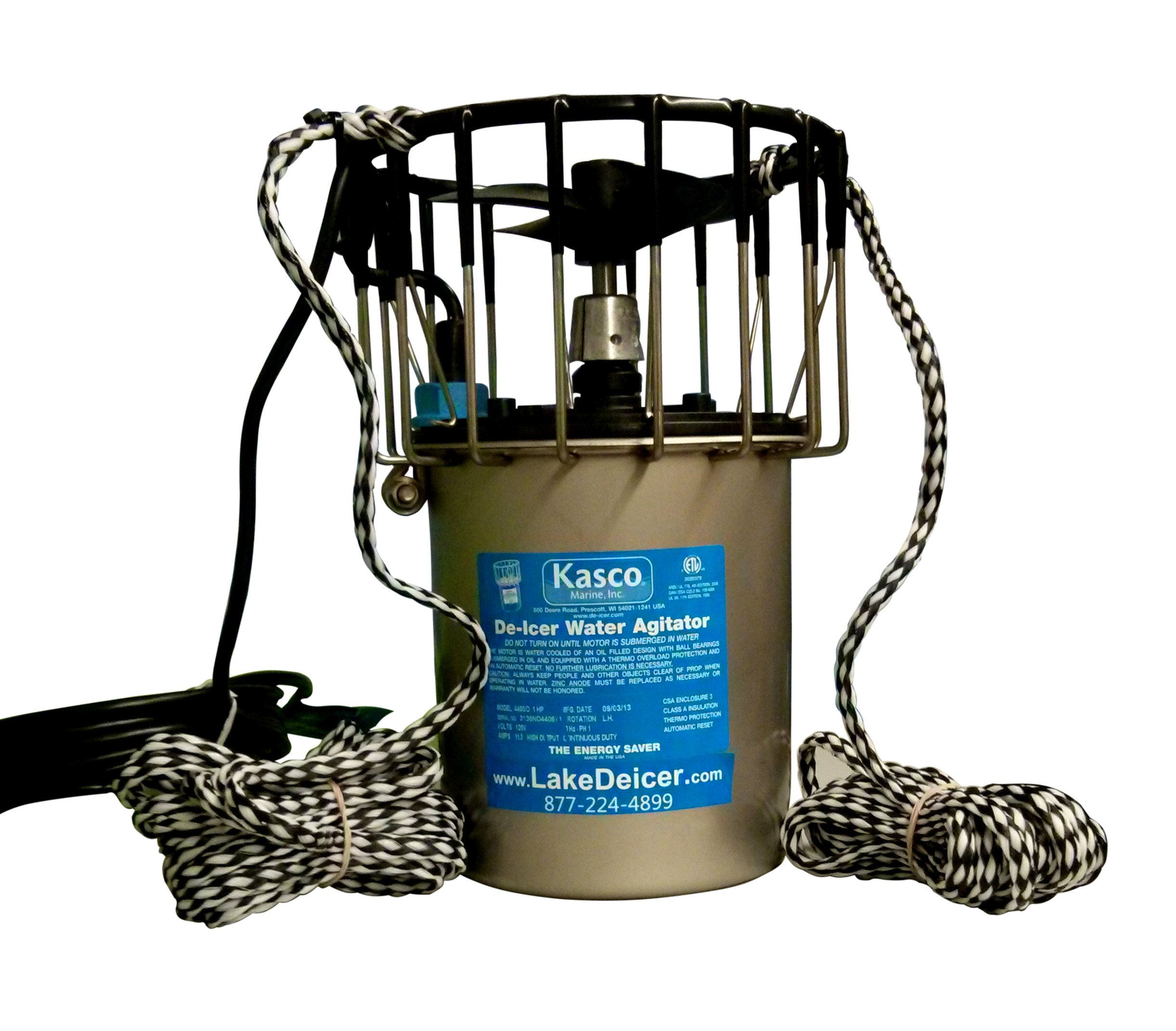 Kasco 3400D050 3400D 3/4 HP Marine De-Icer - 120V Single Phase, 60Hz, 50' Cord