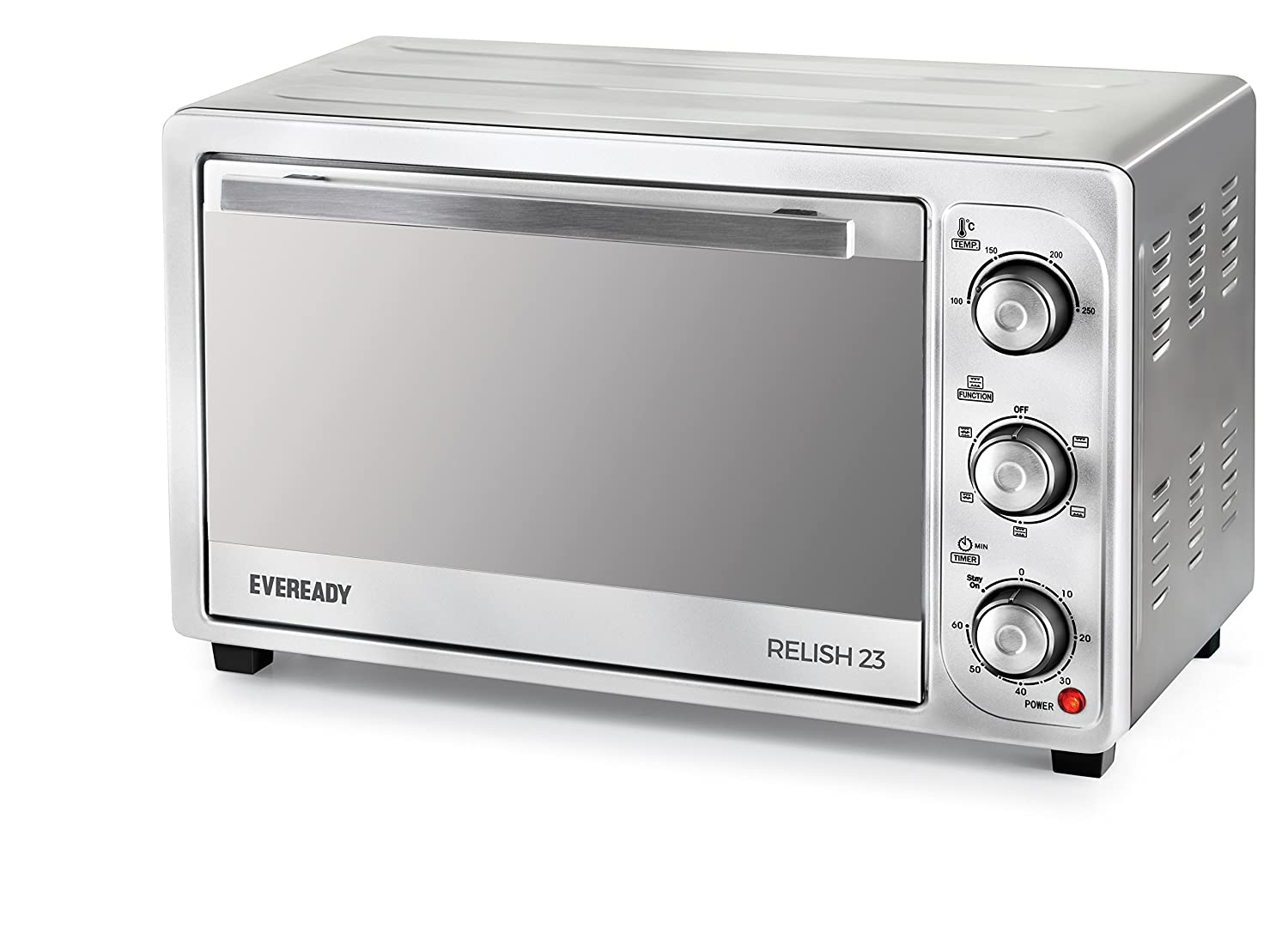 Eveready Relish 23 1380-Watt Oven Toaster Grill (Silver)