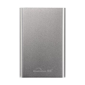 Blueendless - Disco duro externo portátil de(USB 3.0, para ordenador y portátil) plateado plata 160 GB: Amazon.es: Informática