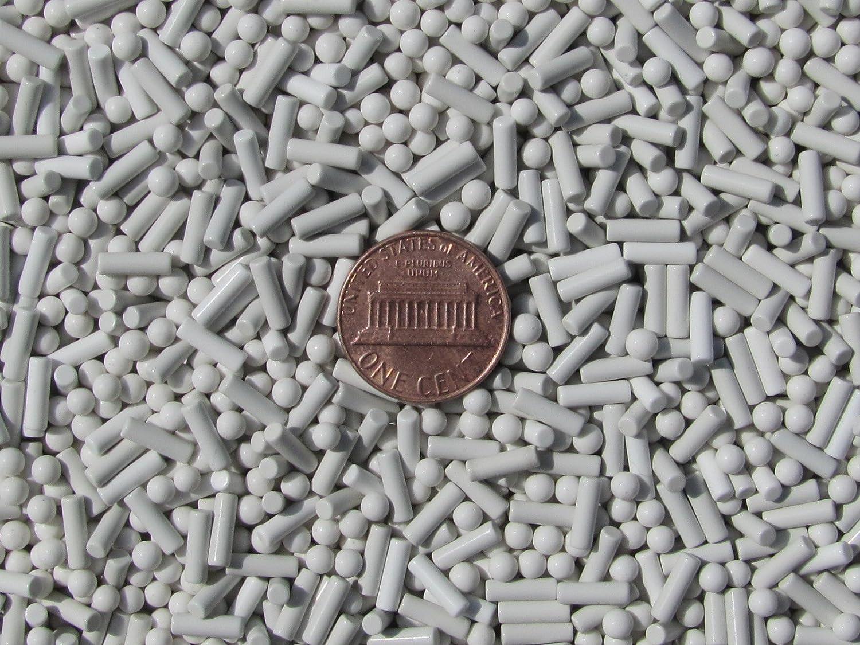White 3 mm Spheres /& 2.5 X 8 mm Pins Lapidary Rock Tumbler Tumble P Non-Abrasive Polish Ceramic Tumbling Media Mixed 2 Lbs