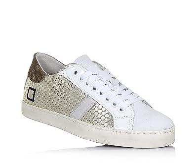 D.A.T.E. - Sneaker à lacets noire en nubuck, fermeture éclair latérale, Fille, Filles,Femme,Femmes-29