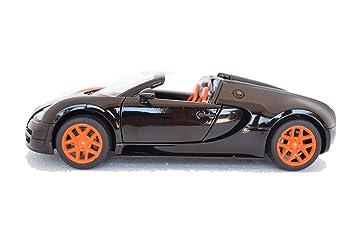 Bugatti Veyron 16.4 Grand Sport Vitesse, Black/orange, Model Car, Ready