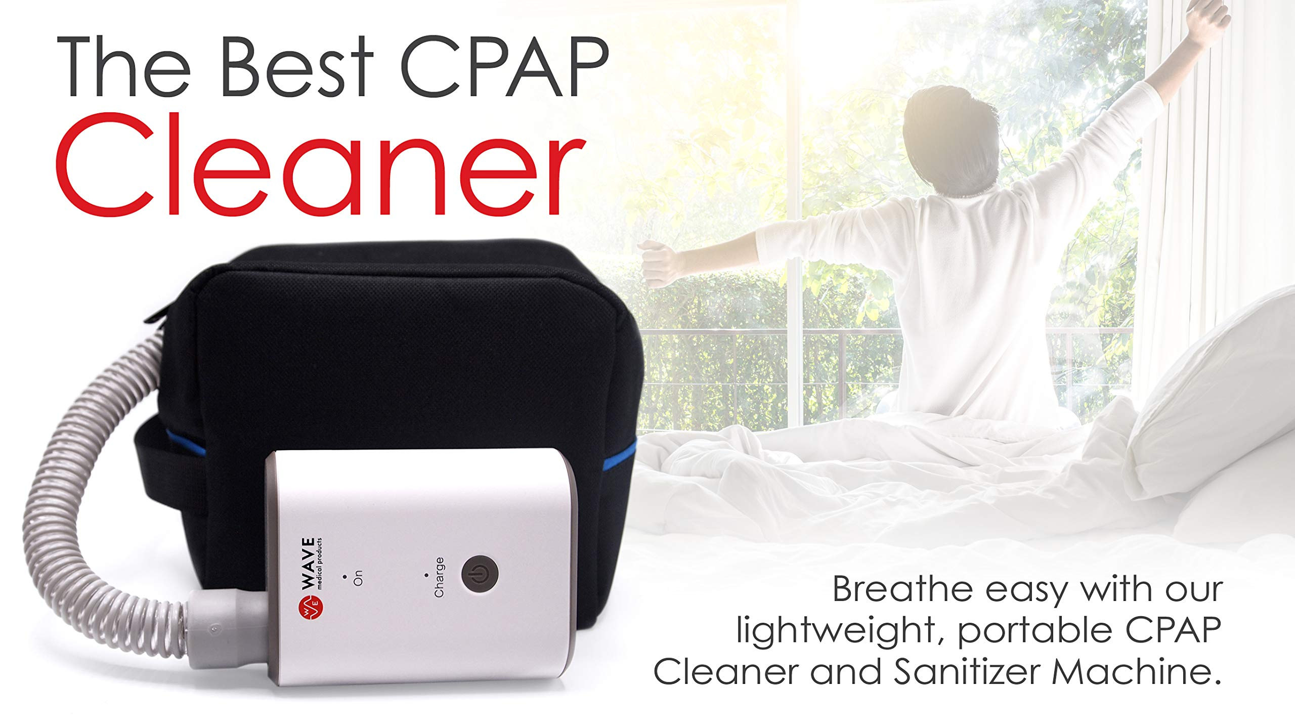 Wave Medical Portable CPAP Cleaner and Sanitizer Bundle Cleans CPAP Machine, Mask, Pillow - CPAP Cleaner Includes Sealed Sanitizing Bag, Heated Hose Adapter, Airmini Adapter, 6 Foot CPAP Hose by Wave Medical Products (Image #5)