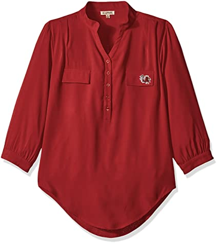 af180b2c6 UG Apparel NCAA South Carolina Fighting Gamecocks Women's Plus Size 3/4  Sleeve Button Down