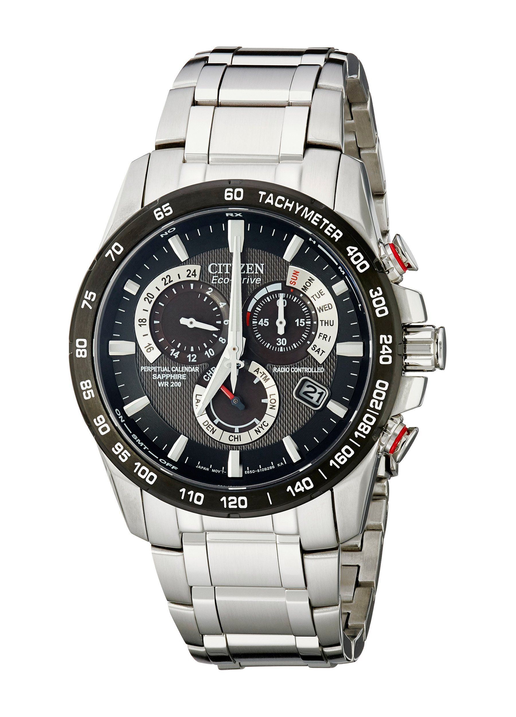 Citizen Eco-Drive Men's AT4008-51E Perpetual Chrono A-T Stainless Steel Watch by Citizen