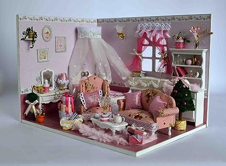 Fai da te artigianale in legno casa delle bambole in miniatura kit