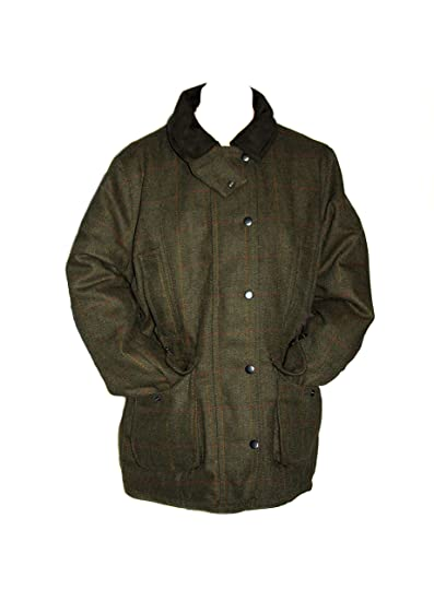 "125055a4aed36 Saddle Mens Derby Tweed Field Coat Jacket Hunting Shooting Fishing (Large  44"")"