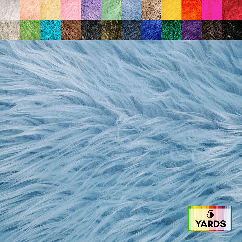 Hobby Baby Blue DIY Craft Pre Cut Strips Decoration Costume FabricLA Mohair Shaggy Faux Fur Fabric Trim Ribbon