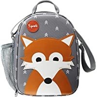 3 Sprouts Fox Lunch Bag, Gray