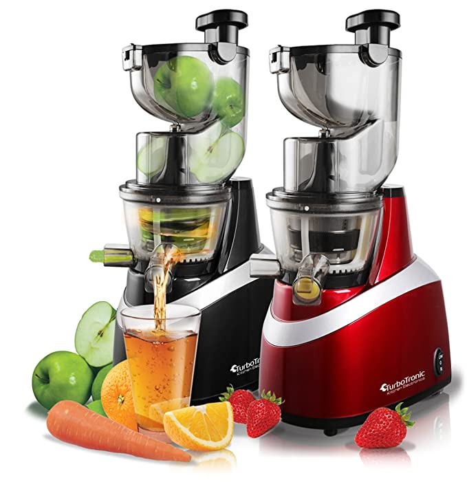 TurboTronic Juice Bar exprimidor lento para todo tipo de frutas 85 ...
