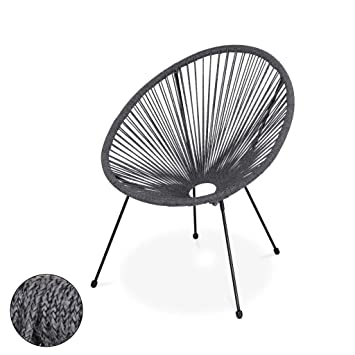 Fauteuil Chiné Garden En Forme Corde D'oeuf Acapulco Alice's Gris 2IE9HDYW