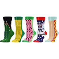 WeciBor Women's Funny Casual Combed Cotton Socks Packs