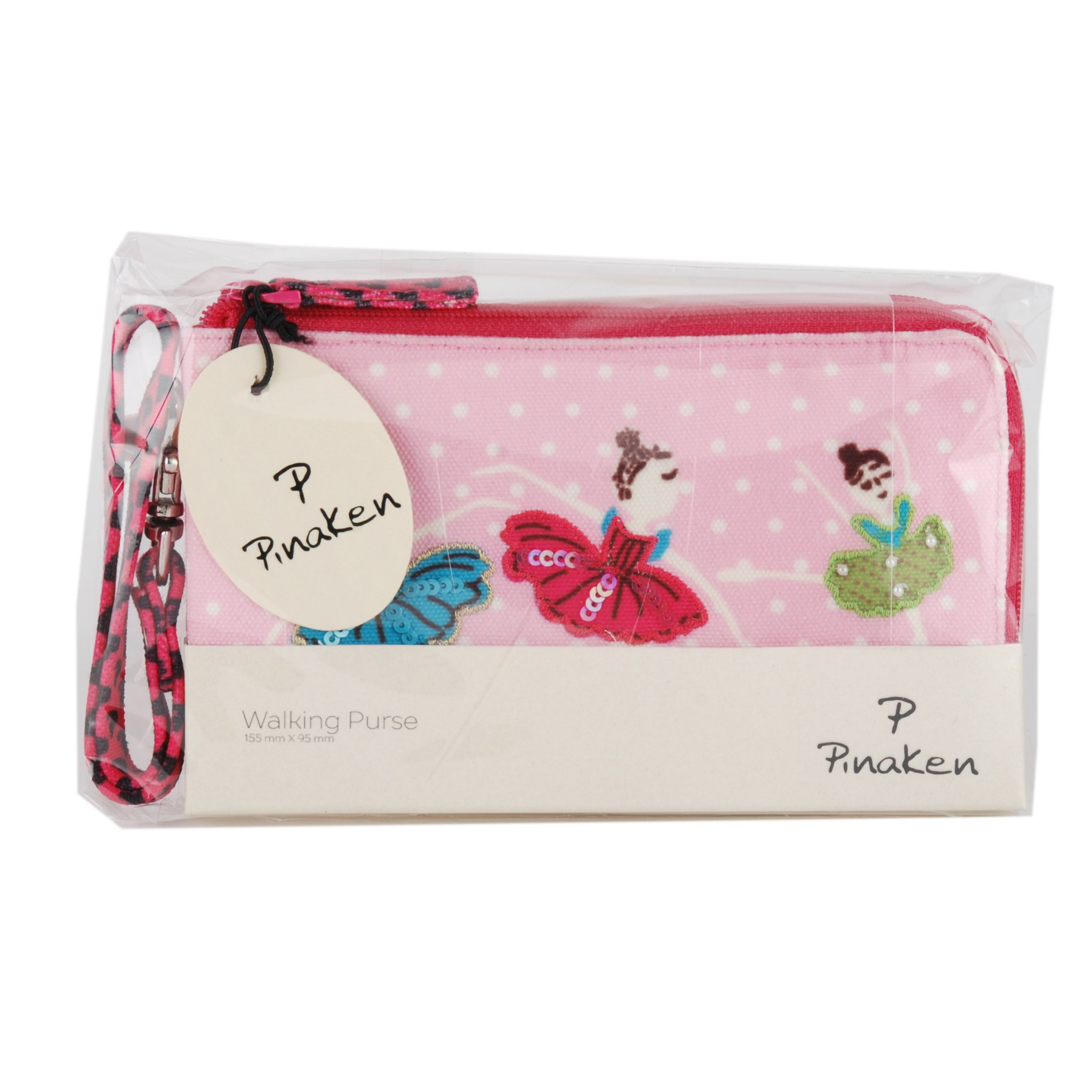 Wristlet removable clutch travel bag purse money pouch wallet organizer by Pinaken (Image #4)