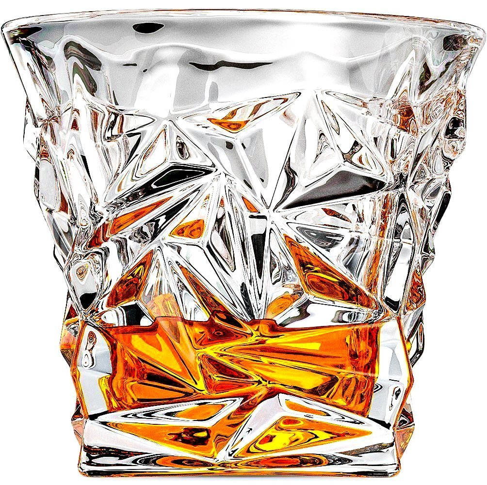 Luxury Whiskey Glass Old Fashioned Vintage Rocks for Bourbon Scotch Cocktail Drinks Tumbler Glassware Gifts for Men Dad and Husband Prime Snifter Bar (1) Magic Glass & Ice WG-1
